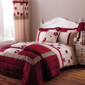 Alicia Red Bedspread 240cm x 260cm