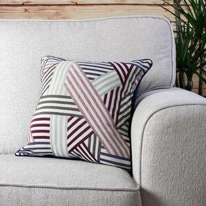 Geo Cushion Cover Purple 2 Pack 45cm x 45cm