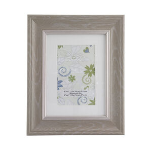 Natural & Silver Photo Frame 4x6""