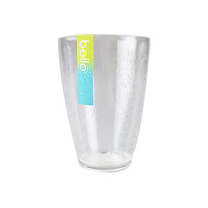 Etched Flower Tumbler