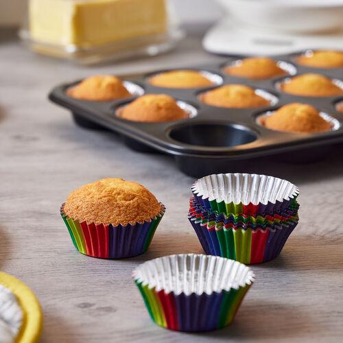 PME Foil Lined Rainbow Cupcake cases- 30 piece