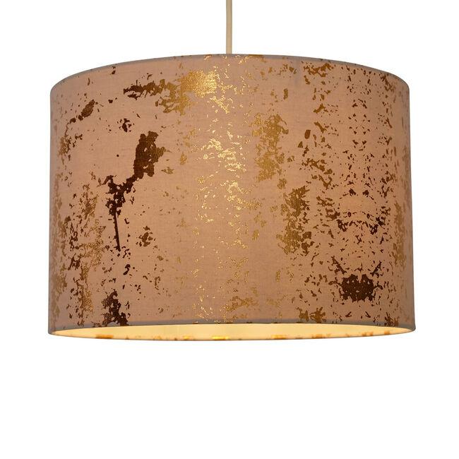 Foil Effect Linen Shade - Gold