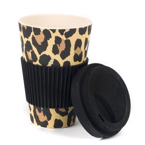 Safari Leopard Print Bamboo Sippy Mug