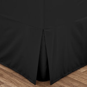 SINGLE VALANCE SHEET Luxury Percale Black