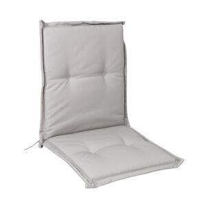 Low Back Chair Cushion Grey 100x48x4cm