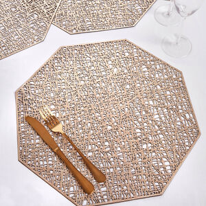 Hexagon Placemat - Gold
