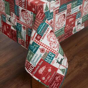 Retro Santa PVC Tablecloth 160 x 230cm