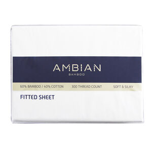 Ambian Bamboo Fitted Sheet - White