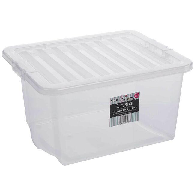 Crystal Box & Lid Clear 35L