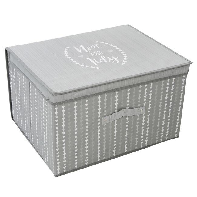 Neat & Tidy Foldable Storage Chest - Grey