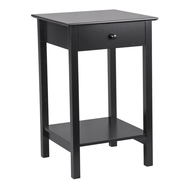 Heritage Anais Square Side Table Black