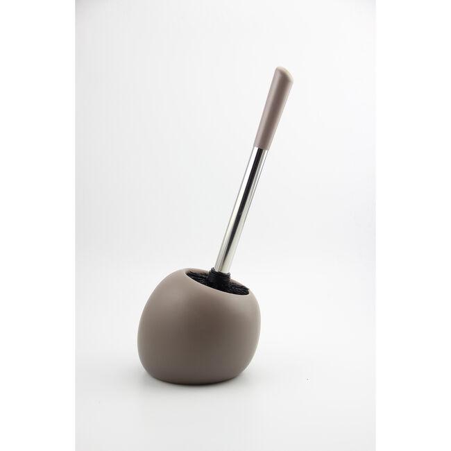 Pod Taupe Toilet Brush & Holder