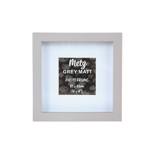 Metz Grey Matt Photo Frame 4x4""