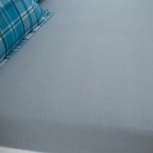 BRUSHED COTTON HOOPER CHECK Single Fitted Sheet