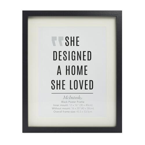 8X10 MCINTOSH Black Photo Frame 10X12 W/OUT MOUNT