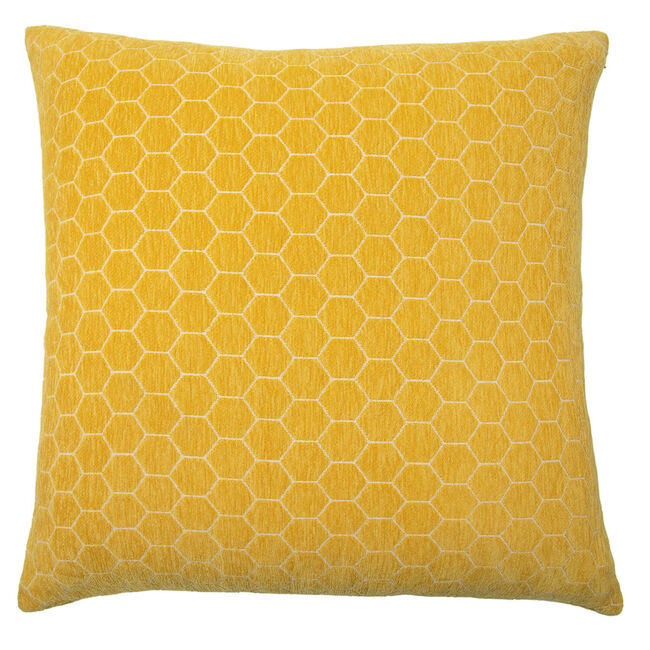 Honeycomb Cushion 58x58cm - Mustard