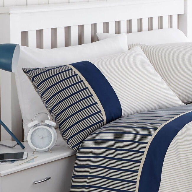 Tailored Stripe Navy Cushion 45cm x 45cm