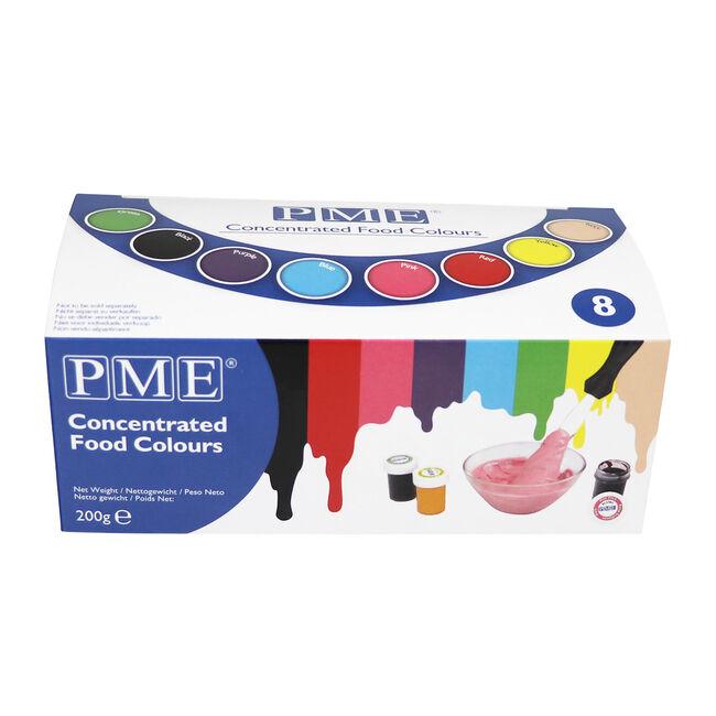 PME 8 Colour Food Paste set