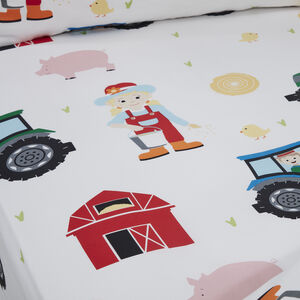 ON THE FARM Junior Bed Fitted Sheet