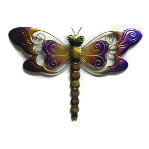 Large Glass Dragonfly Garden Wall Art