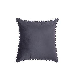 Pom Pom Cushion 45x45cm - Grey