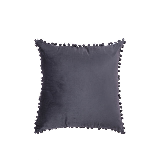 Pom Pom Cushion 45x45cm - Grey
