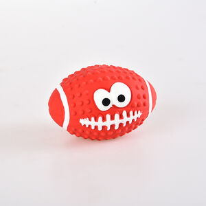 Latex American Football Dog Toy
