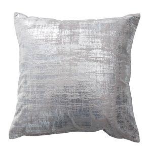 Tribeca Foil Silver Cushion 45cm x 45cm