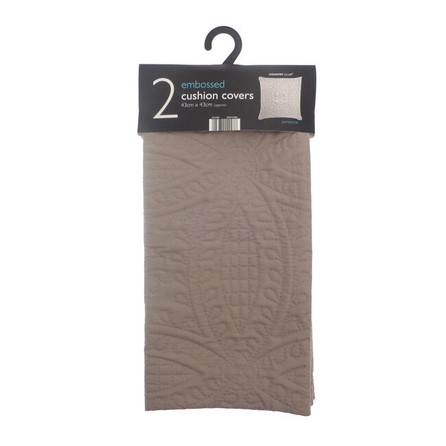 Parisienne Latte Cushion Covers 2pk