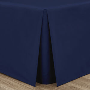 SINGLE PLATFORM VALANCE Luxury Percale Navy