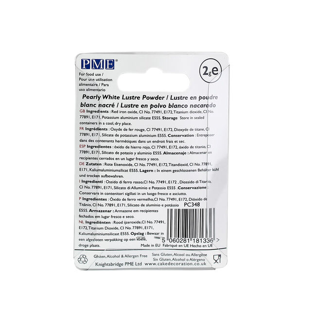 PME Lustre Powder 2g - Pearly White