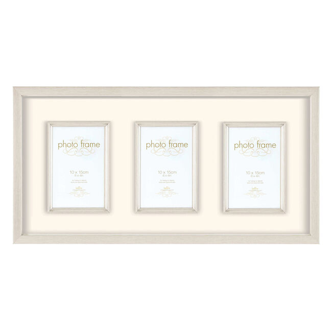 Hereford Silver Photo Frame 3 Window