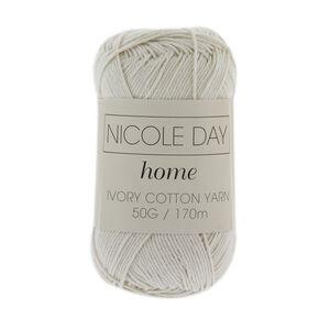 Nicole Day Ivory Cotton Yarn