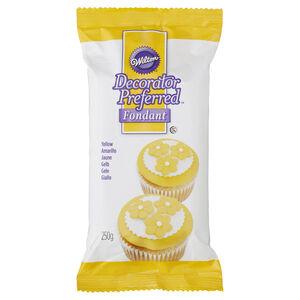 Decorated Preferred Yellow Fondant