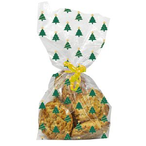 Christmas Tree Cello Bags - 20 Pack