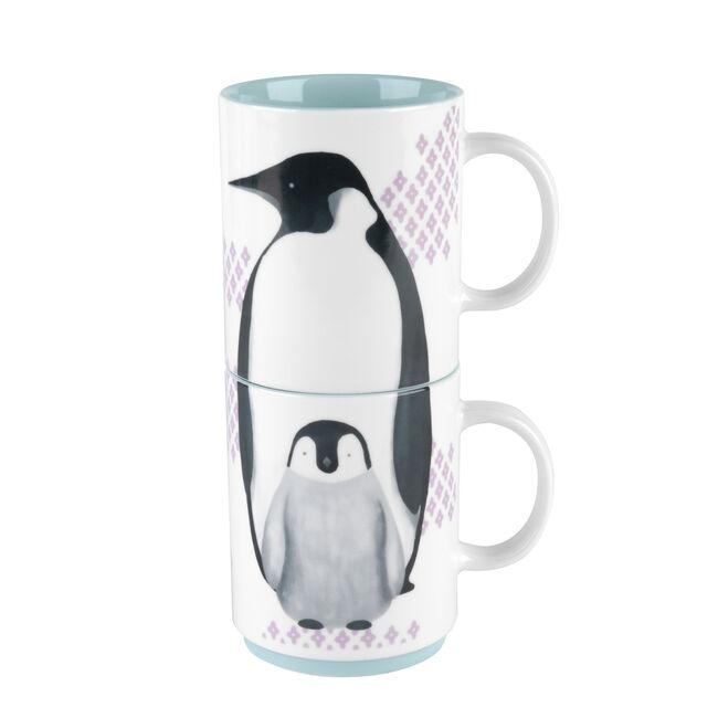 Cambridge Penguin 2 Stacking Mugs