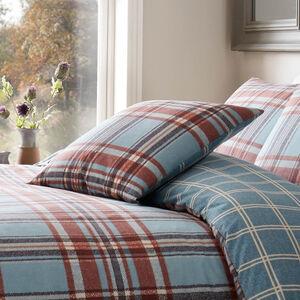 Martin Check Cushion Teal 45cm x 45cm