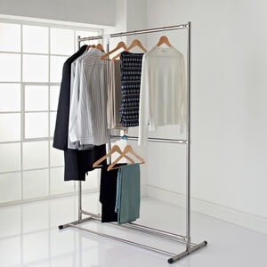 Extendable Double Garment Rail