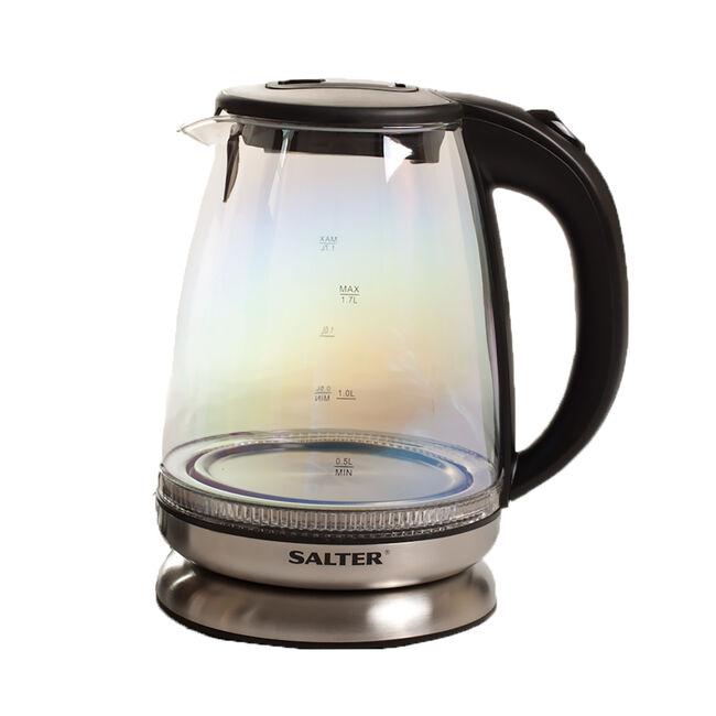 Salter Iridescent Glass Kettle