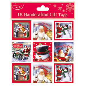 Santa Christmas Gift Tags 18 Pack
