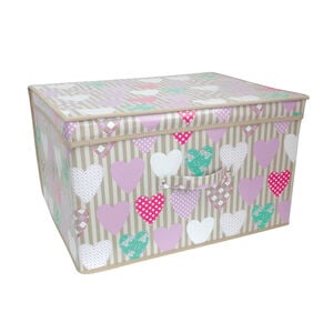 Hearts Foldable Storage Chest