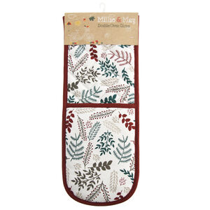 Winter Foliage Double Oven Glove