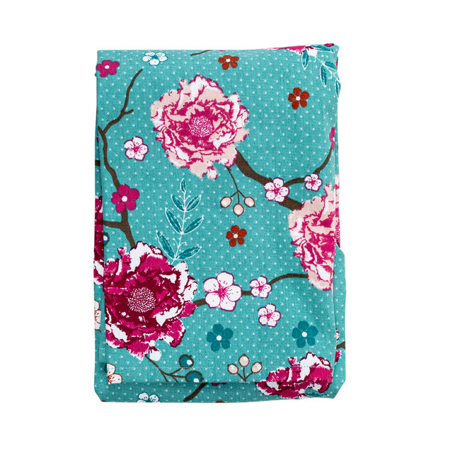 Floral Admiration Teal Apron