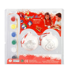 Paint Your Own Christmas Bauble 2Pc Set