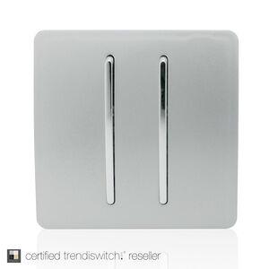 Trendi 2 Gang 2 Way Wall Switch - Silver