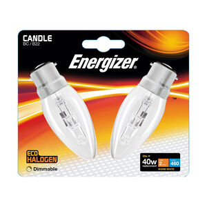 Eco Clear BC Halogen Candle Bulbs 33W
