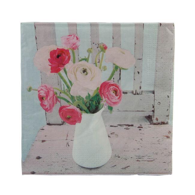 Flower Vase Napkins 20 Pack