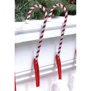 Candy Cane Stocking Holder Pack Of 2