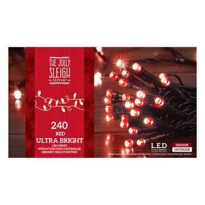 240 LED String Lights Red