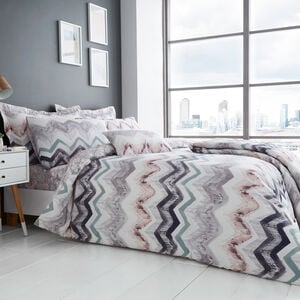 SINGLE DUVET COVER Hannah Grey/Blush